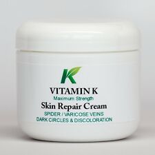 VITAMIN K CREAM-SPIDER VEINS, UNDER EYES, DARK CIRCLES, BRUISING, SCARS, ROSACEA