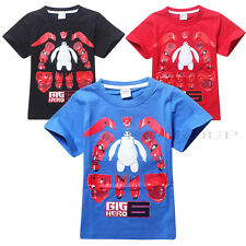 2015 Big Hero 6 Baymax Boys T-Shirts for 4-10 Years Old Kids Child Size 100-140