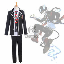 Ao no Blue Exorcist Okumura Rin School Uniform Cosplay Costume Outfit Full Set