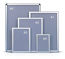 A1A2A3A4 Snap Frames Poster Clip Holders Displays Retail Wall Notice Boards