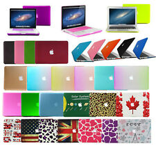 """Rubberized Hard Laptop Case Shell Cover for Macbook Pro 13/15""""Air 11/13""""inch New"""