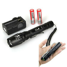2000LM CREE XM-L T6 LED Flashlight Focus Torch light Lamp Zoom +18650 & Charger