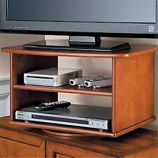 DOUBLE SHELF TV DVD TURNING SWIVEL STAND 3 COLORS Living Room Media Furniture