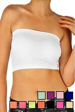 Basic Soft Seamless Strapless Stretch Layering Tube Bra Bandeau Top