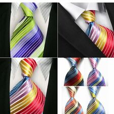 Classic 100% Silk Unisex Colorful Ties Formal Wedding Party Mens Womens Necktie