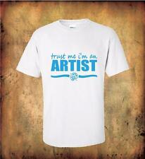 Trust Me I'm an Artist quality cotton t shirt great gift for the painter