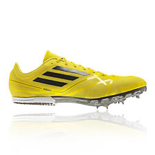 Adidas Adizero MD 2 Mens Yellow Sneakers Track Running Training Spike New