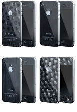 2Pcs BACK and FRONT 3D Patterns Screen Protector Gaurd Film for iPhone 4 4S 5 5S