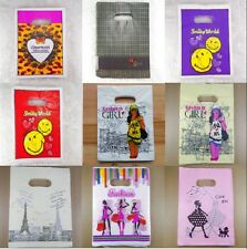Wholesale New 30/50/100Pcs Lot Pretty Plastic Gift Shopping Candy Bags 15x20cm