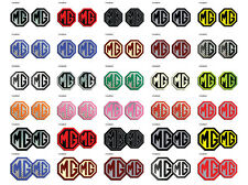 MG ZS LE500 Style Front & Rear Insert Badges MK1, MK2, Decal, Adhesive