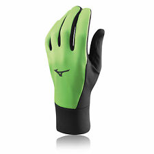 Mizuno Warmalite Mens Womens Green Breathable Windproof Warm Running Gloves New