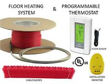 Electric Tile Radiant Warm Floor Heat Heated Kit, 120V, All Sizes Availible