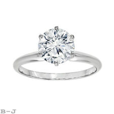 Engagement Ring Solitaire 14K White Gold 1.25 Ct Round Brilliant Diamond Cut