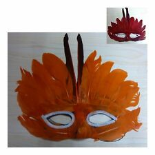 Colorful Feather Mardi Gras Costume Party Mask Masquerade Venetian Ball