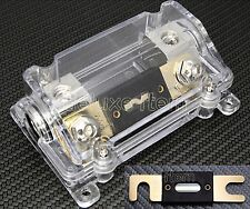 CAR STEREO AUDIO IN LINE ANL FUSE HOLDER 0 2 4 GA IN & OUT AMP INSTALL FREE FUSE