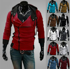 Men's Fashion Fitted Hoodies Boys Warm Winter Casual Hooded Coat Jacket outwear
