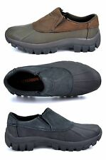 M-1520 Men's Genuine Leather Water Resistant  Walking Jungle Moc Slip-On Shoes