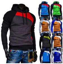 New Men's Casual Slim Fit Hooded Jumper Coats Jackets Outwear Hoodies Sweatshirt
