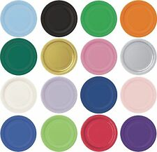 "BIRTHDAY ROUND PAPER PLATES TABLEWARE PARTY PLATES - 16 x 9"" -MANY COLOURS"