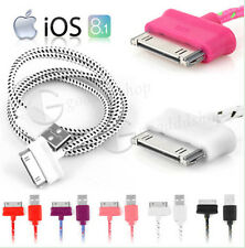 Strong Braided USB Data Sync Charger Cable Lead For iPhone 4 4S 3G 3GS iPad iPod