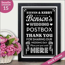 PERSONALISED Wedding Post Box Gifts and Wedding Cards Signs Chalkboard Vintage