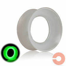 Pair of Glow in the Dark Soft Silicone Ear Plugs Tunnels Gauge Expanders