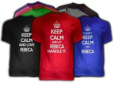 Keep Calm REBECA Themed NEW Adult Unisex Tee Shirt 9 COLORS Love Handle