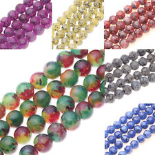 Wholesale 25/50Pcs Chic Czech Glass Round Loose Spacer Beads Jewelry Making 8mm