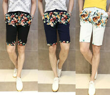 New Men's Fashion Multi Color Floral Print Skinny Fit Mod Summer Casual Shorts