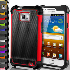 Shockproof Dual Layer Silicone Hard Back Case Cover for Samsung Galaxy S2 i9100