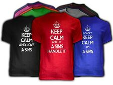 Keep Calm A SIMS Themed NEW Adult Unisex Tee Shirt 9 COLORS Love Handle