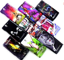 SONY XPERIA C3 WATER PRINT GLOSSY SILICON BACK CASE COVER