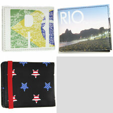 Men's Slim Bifold Wallet Faux Leather Cash & Cards ASOS Rio Print Billfold