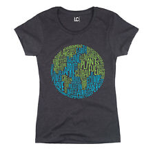 Earth Day Eco Nature Environmental Green Planet Recycle Novelty Womens T-Shirt