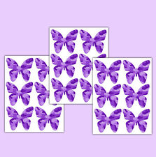 Purple Camo Butterfly Wall Decals Baby Girl Camouflage Nursery Stickers Decor
