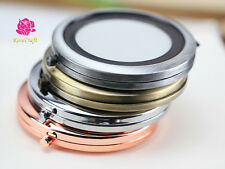 5Kits 57.1mm Blank Round Metal Compact Mirror Makeup Cases 5 Colour DIY Mirror