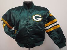 GREEN BAY PACKERS JACKET PRIME SATIN YOUTH NFL FOOTBALL COAT KIDS NWT RODGERS