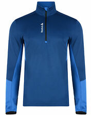Mens New Reebok Delta Training Top Jumper Jacket Sweater Sweatshirt - Blue