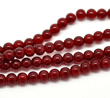 Wholesale Crackle Glass Round Beads 8mm Dia.