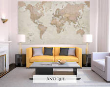 Giant Sized Canvas World Map - Antique