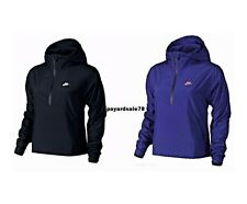 WOMEN'S NIKE FAST TRACK HALF ZIP JACKET WINDBREAKER HOODIE NEW $100 RETAIL