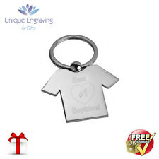 Metal Personalised Photo Engraved Football Shirt Keyring - Fathers Day Gift