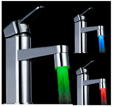 Magical 3 Color Sensor LED Light Water Faucet Tap Temperature For Bathroom