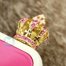 Bling Jewelry Royal Crown Anti Dust Plug Cover Charm For Mobile Cell Phone