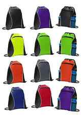 613***DURABLE Drawstring Backpack Cinch Sack School Bag Tote Sport Pack 14 x 17