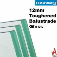Glass Balustrade 12mm Clear Toughened Frameless Glass Fencing Spigots Deck DIY