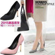 New Sexy Womens Metal High Heels Pointed Toe Shallow Mouth Stilettos Shoes N251