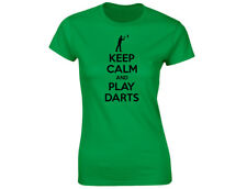 Keep Calm And Play Darts Womens Funny T-Shirt (12 Colours)