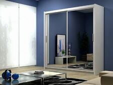 Brand New Modern Quality 2 Sliding Door Large Wardrobe DAKO PARIS 203 WHITE