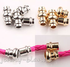 5/10Set Gold White K Cylindrical Strong Magnetic Clasps Finding 18x11/14x8mm Diy